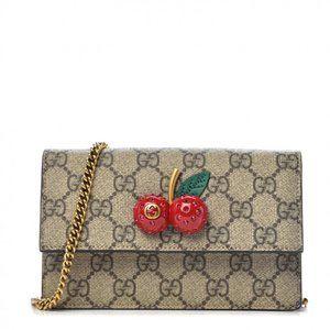 Gucci GG Supreme Mini Bag with Cherries in Beige